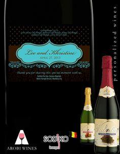 Elegant Wedding Favor for Sparkling Wine Labels... Designed with personalization!