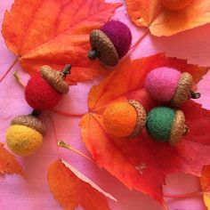 Wool Felt Acorns fro
