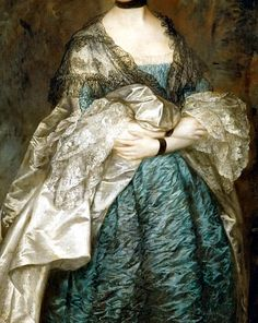 Sadness and classic art, Portrait of Lady Alston, Detail  by Thomas Gainsborough (1760-1765)