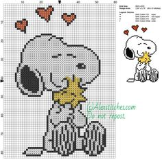 Snoopy and Woodstock free cartoons cross stitch pattern 4 colors - free cr. Snoopy and Woodstock free cartoons cross stitch pattern 4 colors - free cross stitch patterns by Alex Cross Stitching, Cross Stitch Embroidery, Embroidery Patterns, Hand Embroidery, Cross Stitch Charts, Cross Stitch Designs, Cross Stitch Patterns Free Disney, Snoopy Et Woodstock, Stitch Character