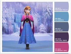 Anna Frozen color palette | Sherwin Williams let'schipit.com