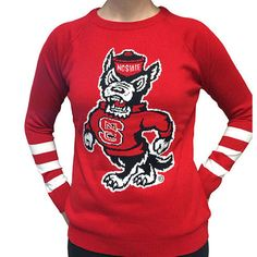 NC State Wolfpack Women's Red Strutting Wolf Sweater