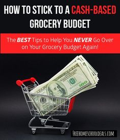 The BEST Tips to Help You Stick to a Cash-Only Grocery Budget!