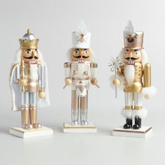 One of my favorite discoveries at WorldMarket.com: Metallic Traditional Nutcrackers Set of 3