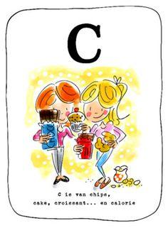 Alfabetkaart, C is van chips- Greetz