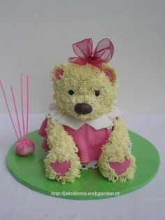 adorable Sitting Teddy Bear Cake