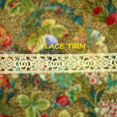 2-1/2 YARDS, CREAM Lace Insertion Sewing Trim, Machine Crochet, Straight Edges, Circles Squares, 5/8 Inch Wide, L313 by DartingDogCrafts on Etsy