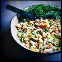 Pasta Salad, Salsa, Mexican, Vegetables, Ethnic Recipes, Kitchen, Food, Rain Bow, Easy Meals