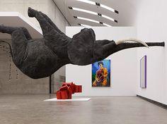 """Daniel Firman, Courtesy Galerie Perrotin, ParisDaniel Firman, """"Nasutamanus"""", 2012. Kunsthalle Wien"""