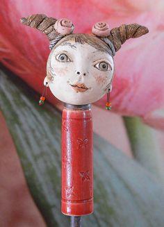 Pflanzen- & Gartenstecker - Zopflieschen »Eva« - ein Designerstück von Brigitte_Peglow bei DaWanda