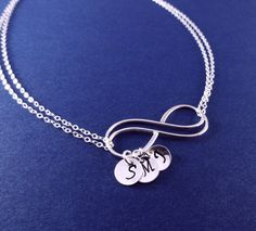 Mothers necklace Personalized Infinity Necklace by BriguysGirls, $45.00
