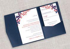 DiY Pocket Wedding Invitation Template Set  von DiyWeddingTemplates