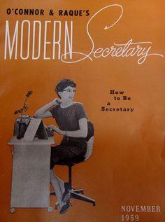 Vintage magazine booklet Modern Secretary 1959 Office staff worker advertisements