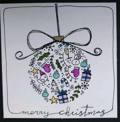 weihnachten zeichnen Simple Christmas cards for kids on a budget - ball decorations - - Christmas Cards Drawing, Simple Christmas Cards, Christmas Doodles, Christmas Night, Xmas Cards, Christmas Art, Diy Cards, Holiday Cards, Christmas Card Making
