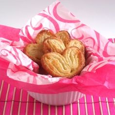Heart Shaped Palmiers (technically all the palmiers that i have ever made/eaten are heart shaped).