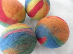 Jumbo sized Dryer Balls Set of 4 Made entirely of by WoolyTopic, $40.00