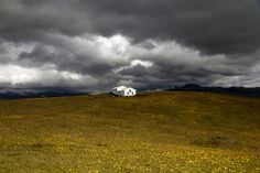 Rain clouds building up in the wettest place of Iceland