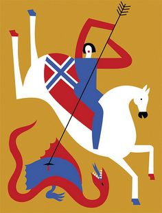 Norwegian Knight - Illustration by Olimpia Zagnoli