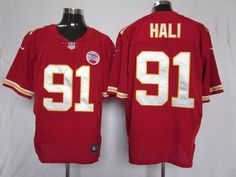NFL Jersey's Youth Kansas City Chiefs Tamba Hali Nike Red Team Color Game Jersey