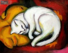 FRANZ MARC - WHITE CAT
