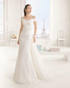 Hochzeitskleid aus Strass besetzter Spitze. Rosa Clará Two Kollektion 2016