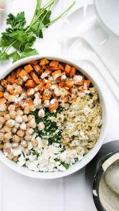 Kale, Chickpea and Sweet Potato Quinoa Bowl