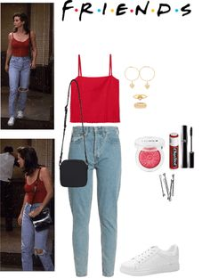 angelina jolie grunge Monica Geller C - Tv Show Outfits, Style Outfits, Mode Outfits, Fall Outfits, Casual Outfits, Summer Outfits, Throwback Outfits, 90s Inspired Outfits, Retro Outfits