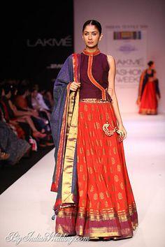 Shruti Sancheti Lakme Fashion Week Shruti Sancheti Collection, Designs, Fashion Shows, Lehengas & Sarees, Pictures and Photos on Bigindianwedding Indian Wedding Outfits, Pakistani Outfits, Indian Outfits, Indian Clothes, Indian Look, Indian Ethnic Wear, Asian Fashion, Women's Fashion, Saree Fashion