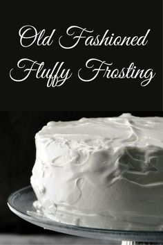 Confetti Angel Food Cake with Fluffy Icing Fluffy frosting Mixing