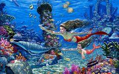 Tlcharger Fond d'ecran Monde sous-marin,  sirne,  Dauphins,  poisson Fonds d'ecran gratuits pour votre rsolution du bureau 1680x1050 — image №375723
