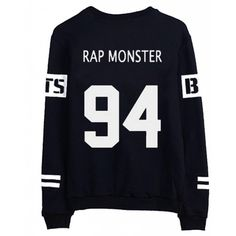 BTS Bangtan Boys Black Hoody Sweater Pullover Shirt ($16) ❤ liked on Polyvore featuring tops, kpop, bts, clothing - long sleeved tops and sweaters