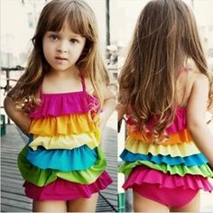Free Shipping children bathing suit the  conjoined Skirt Girls swimwear rainbow cute baby bathing suit - http://www.aliexpress.com/item/Free-Shipping-children-bathing-suit-the-conjoined-Skirt-Girls-swimwear-rainbow-cute-baby-bathing-suit/32295720326.html
