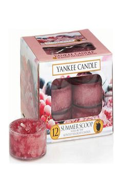 Yankee Candle Summer Scoop Scented Tea Light Candles Pack of 12. an Authentic, True-To-Life Fragrance with Pure, Natural Plant Extracts. Convenient and Easy to Use. Fragrance Lasting for 4-6 Hours Each. #yankees_gifts #candle_decor #candle_diy #tea_lights_ideas
