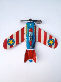 Vintage Ohio Art tin litho toy Coast Guard plane.
