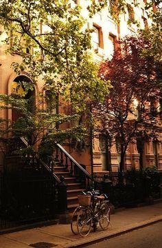 Summer on Perry Street, Greenwich Village, New York City
