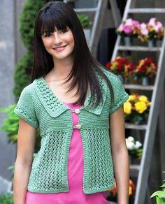 Short-sleeved knit cardigan - Renee - Lei Yu Xuan