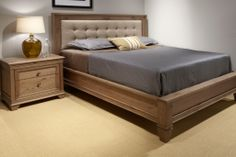 We are excited to share with you the newest addition to our showroom! The ODEON collection combines West Bros ' solid wood constr. Bedroom False Ceiling Design, Bedroom Bed Design, Bedroom Furniture Design, Home Room Design, Bed Furniture, Fine Furniture, Wood Bed Design, Bed Frame Design, Sofa Design