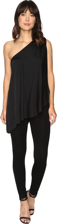 Trina Turk Women's Nimah Top Black Shirt. Trina Turk Size Guide. You'll exude chic sophistication in this Trina Turk™ Nimah Top. Top boasts an oversized silhouette that drapes the body for a flattering look. Luxurious silk crepe de chine fabrication. Split one-shoulder design. Asymmetrical hemline. 95% silk, 5% spandex. Dry clean only. Imported. Measurements: Length: 32 in Product measurements were taken using size SM (US 4). Please note that measurements may vary by size.