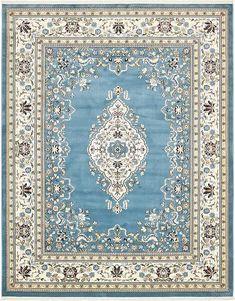 Blue Tabriz Design Area Rug