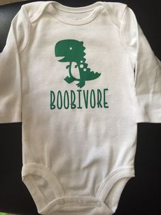BOOBIVORE/ breastfeeding/ baby shirt/onesie / by onesies Breastfeeding: A Behind The Scenes Look Cool Baby, Fantastic Baby, Unique Baby, Baby Bikini, Baby Outfits, Baby Shirts, Onesies, Funny Onsies, Pregnancy Shirts
