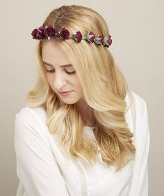 Look what I found on #zulily! Dark Purple Rosebud Halo Headband by Mia Beauty #zulilyfinds