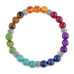 $12.95 7 Chakra Mixed Stone Mala Bracelet FREE SHIPPING! These custom designed 7 Chakra Mixed Stone Mala Bracelets are a MUST HAVE! They are made with premium high quality material! Details: - Length: