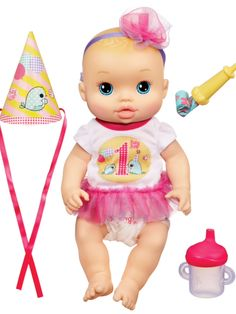 Baby Alive Party Baby Doll--for Paige's first birthday gift! Baby Alive Food, Baby Alive Dolls, Baby Dolls, Babies R Us, Little Babies, Little Girls, First Birthday Gifts, First Birthdays, 10th Birthday