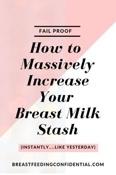 Should you have a breast milk stash? These are the essential tips every new mom will want to know to build her breast milk stash. Breastfeeding Positions, Breastfeeding Problems, Breastfeeding And Pumping, Low Milk Supply, How To Increase Breastmilk, Pumping At Work, Breastmilk Storage, Before Baby