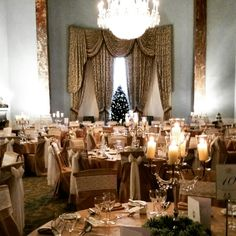 Winter Wedding in the Ballroom #wedding #wynyardhall #weddingvenue