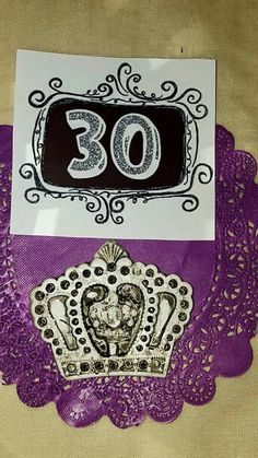 30th birthday dinner #purple #vintage #orange #flowers #rusticglam #rustic #mask #candle #lace #jars #gifts #serviettes #gold #collage #sepia #crown #celebrate