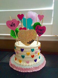 Heart themed We Love You Cake