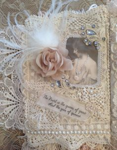 Girls and Pearls Fabric Journal