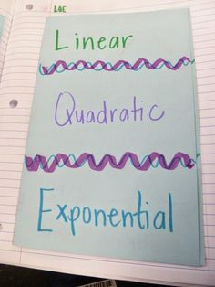 Learning with Tape: Friday Freebies! Comparing Linear/Quadratic/Exponential Functions