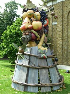 Artist Philip Haas Re-Imagines Giuseppe Arcimboldo's Famous Food Face Portraits In Larger Than Life Sculptures